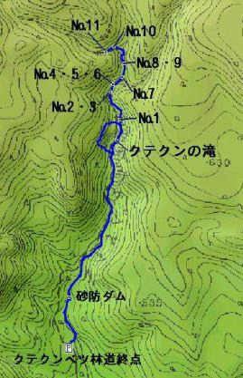 쿠테쿤의 폭포 지도