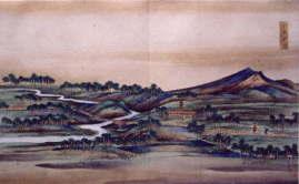 """""""케네카""""(""""홋카이도력 검도"""") ※사진 우측의 산은 서쪽별 악"""