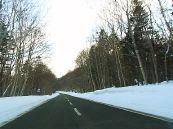 굿샤로코 부근의 도로